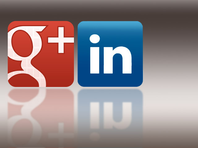 You should use Google+ and LinkedIn